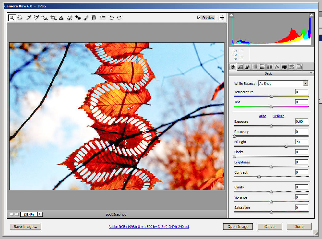 how to change file camera shoots in