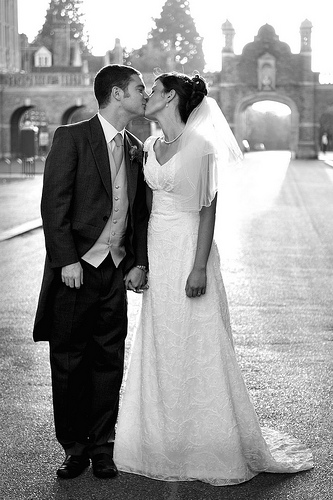 Wedding couple, Christs Hospital School