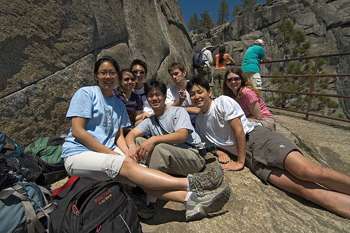 Group Shot At Upper Yosemite