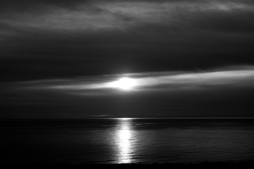 Sunset In B&W