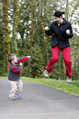 Karate Kid Meets Flying Mom