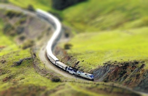 Tilt Shift Train
