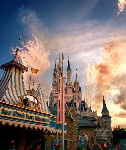 Daily Disney - Daytime Fireworks At The Castle