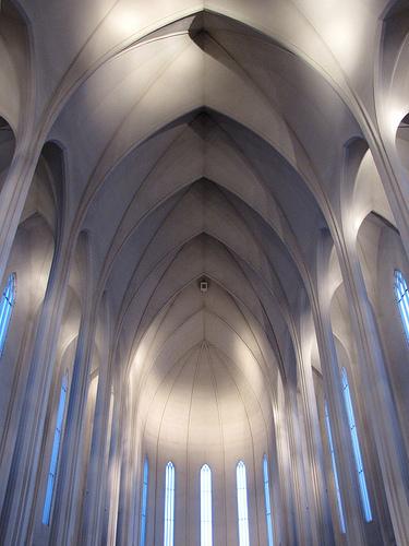 The Interior Of Hallgrimskirkja Church
