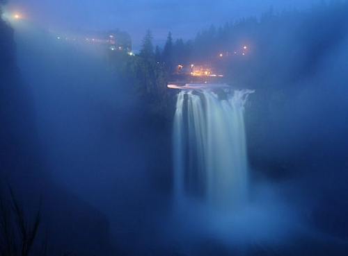 Blue Mists At Snoqualmie Falls