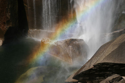 End Of The Rainbow At Vernal Falls