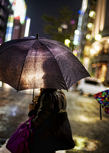 In The Rain In Tokyo