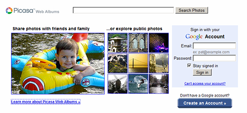 Picasa Web Albums powered by Google