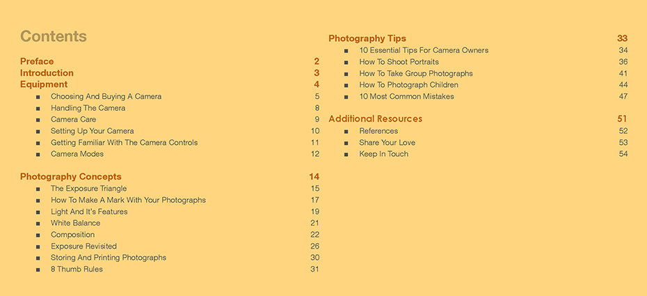 Photography Beyond Memories: Table Of Contents