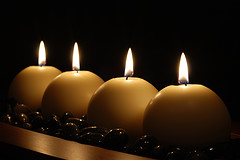 Candle light photography